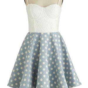 MINKPINK Sugar Magnolia Polka Dot Skater Dress